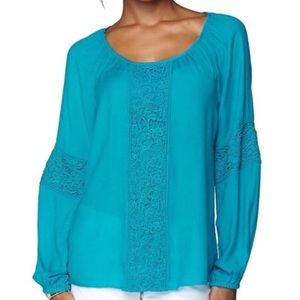Lilly Pulitzer Briony Crochet Blouse